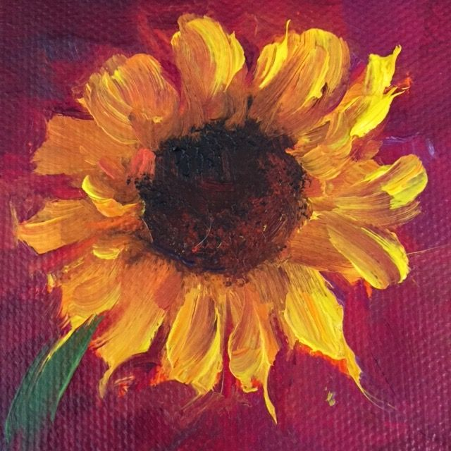 """Zazzle"", 3"" x 3"" Petite Original Oil Painting"