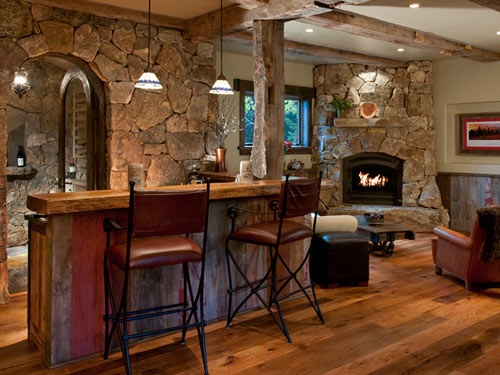 Wet Bar, Wine Room, Reclaimed Wood Front