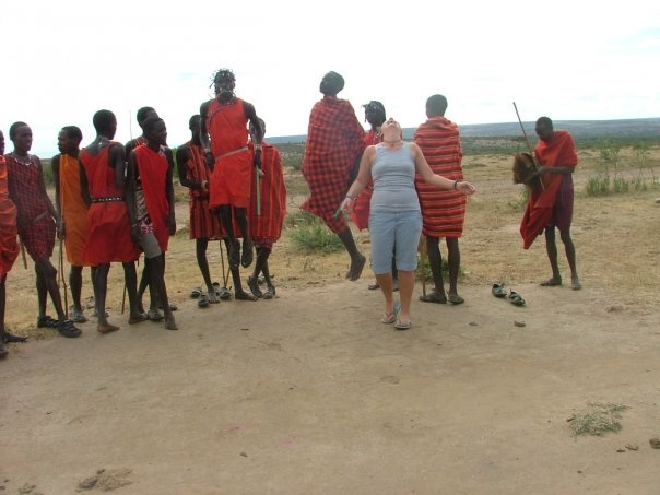 Having the time of her life, Kensington's Jessica Pretty spends some quality time with a tribe in Africa.