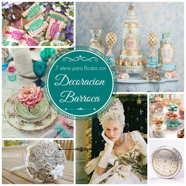 7 ideas originales para bodas con decoracion barroca tendencias 2014 2015 blog mi boda gratis