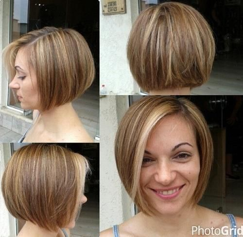 Chin-length+bob+with+highlights