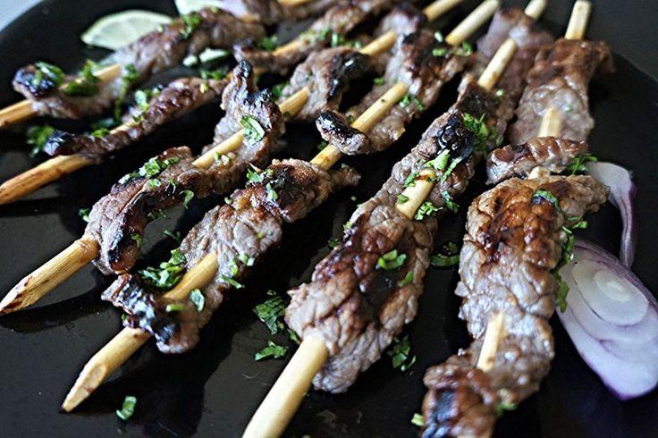 Рецепт. Говядина терияки на палочках. Этот рецепт говядины можно использовать в случае, если Вы решили устроить пикник прямо дома. Миниатюрные шашлычки из говядины на деревянных палочках, можно очень...