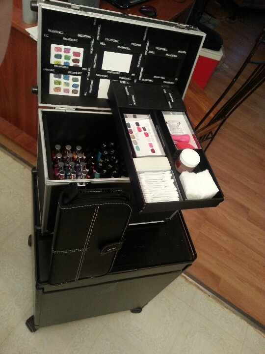 Mobile nail station nails pinterest nail station and for Mobile nail technician table