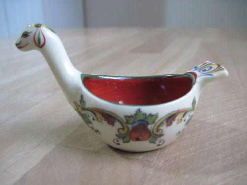Vintage Porsgrund Norge Pottery Art Viking Dragon Serpent Bowl