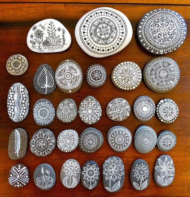 : El arte plasmado en piedra. Piedras decoradas.