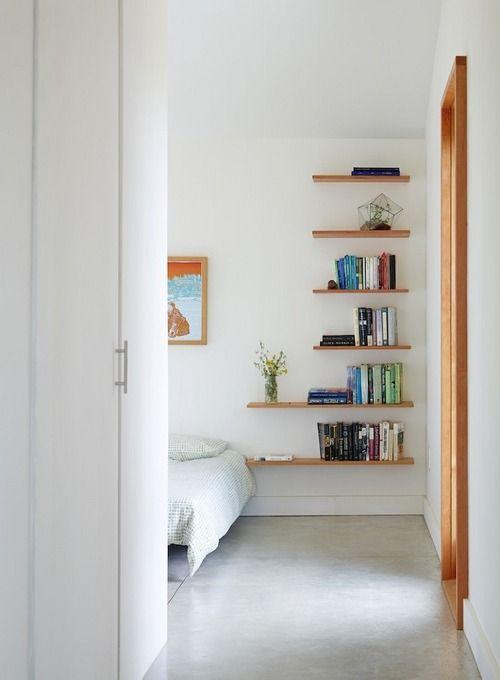4 easy tips for living large in small spaces bellacor floating bookshelveswooden shelvesbook shelvesdiy bedroom decorhome