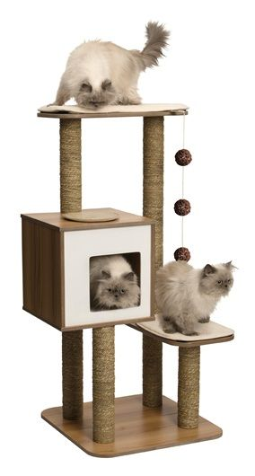 Vesper Cat Furniture, V-High Base Walnut [022517520451] - £96.89 : Elmpets.co.uk