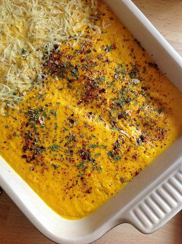Lasagnes au potimarron par Audrey Bourdin. Ca tombe bien, j'adore le potimarron, les lasagnes, le jambon cru et Audrey Bourdin <3