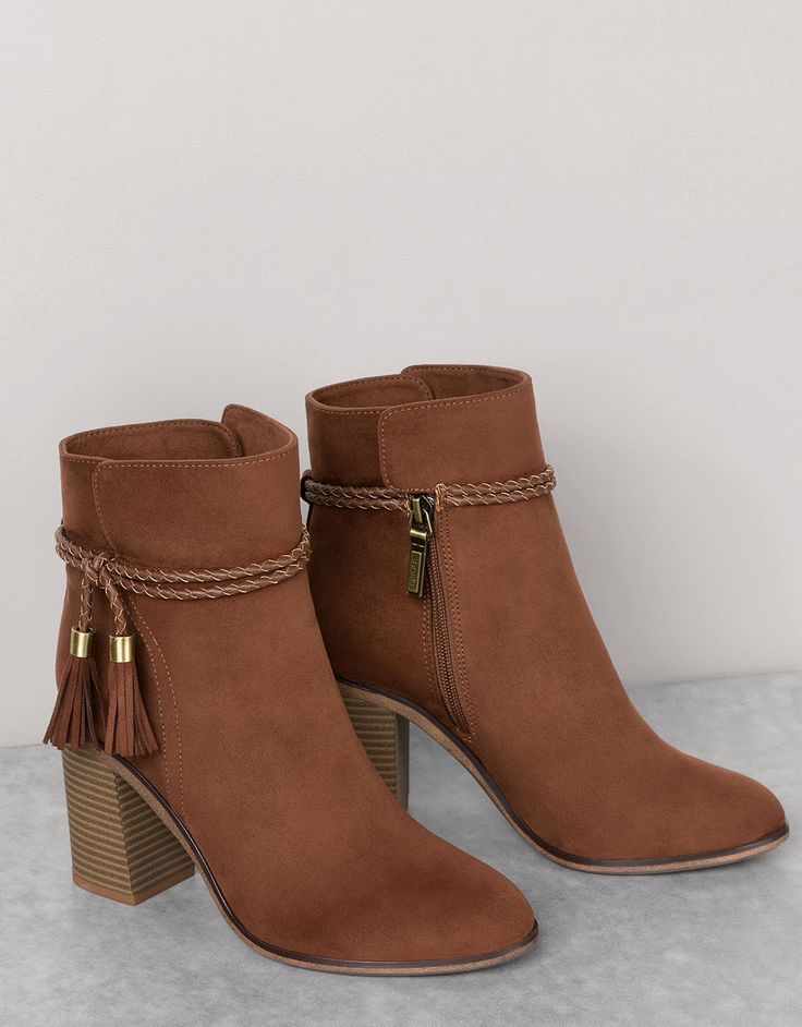 Ankle boots with braid detail - View All - Bershka Romania