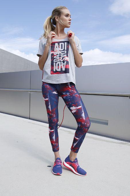Dynamisches Design! Die stylischen Leggings mit Allovermuster von adidas Performance sind ein absoluter Volltreffer. Leggings sind absolut angesagt und das zu Recht, wie dieses Must-have beweist. Der elastische Komfortbund mit Kordelzug ist superangenehm zu tragen und ermöglicht eine uneingeschränkte Bewegungsfreiheit. Auch abseits vom Sportstudio sorgen die Printleggings für einen coolen Look, beim Training ergänzen Top und Sneakers das Outfit.