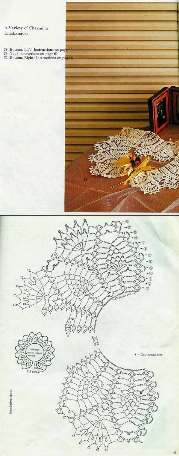 Crochet Lace Collar Nr 28: pineapples