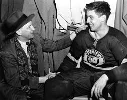 Coach Punch Imlach et Jean Béliveau  as de Québec. Photo of Puch Imalch and J Béliveau with as of Québec