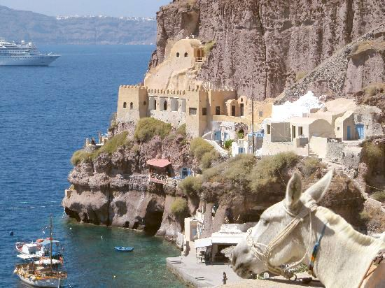 Visit the old port and then have fish in a local taverna nearby by the sea...  #Santorini #Oia #Fira #SantoriniSights   #ArtMaisons