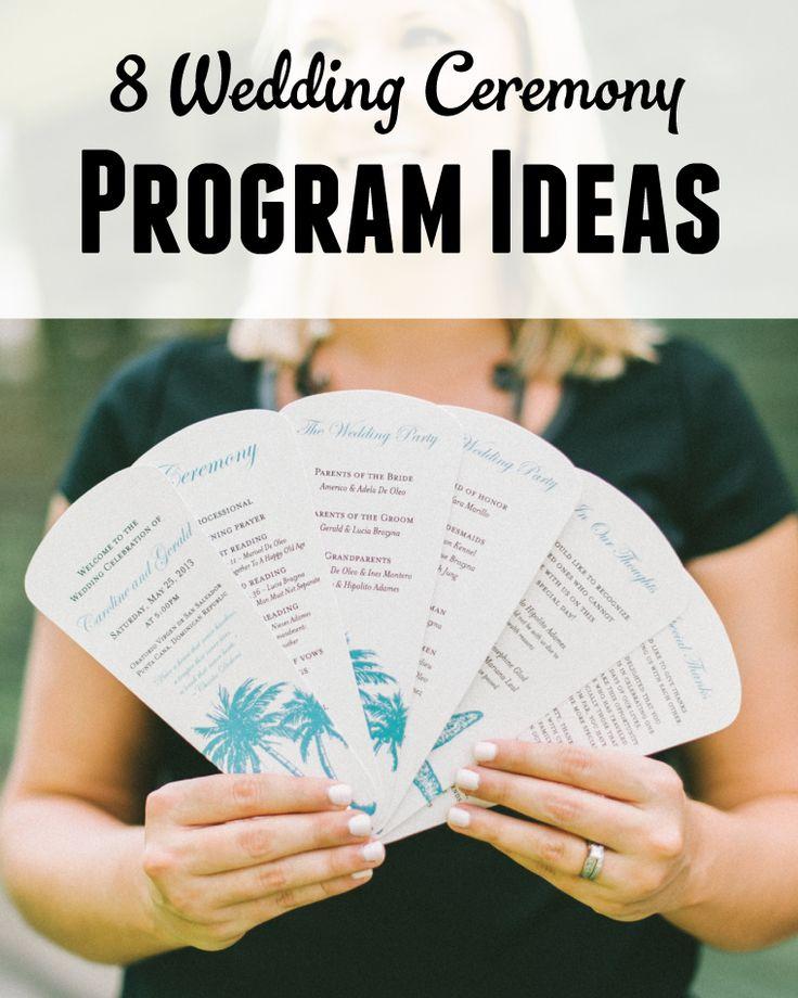 8 Wedding Ceremony Program Ideas