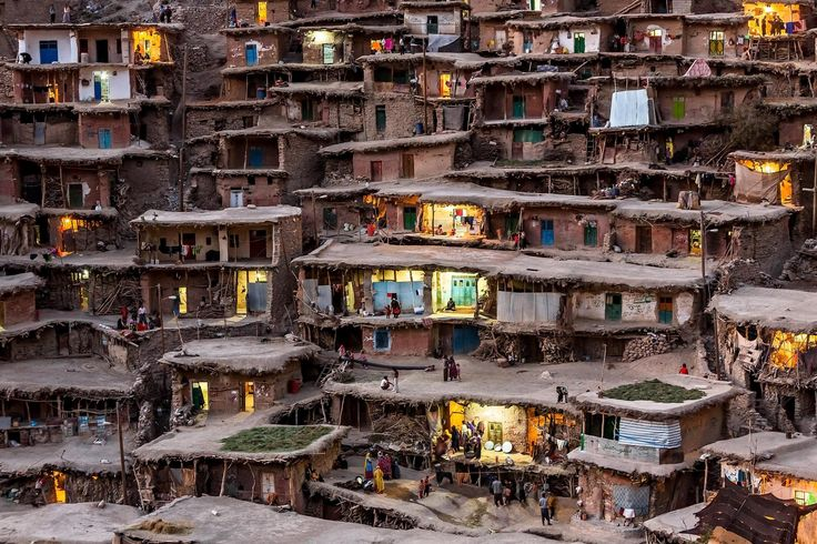 Some of villages in IRAN have made on slope, For example Kandovan , Masooleh and Palanga village. Photo by Mohammadreza Momeni
