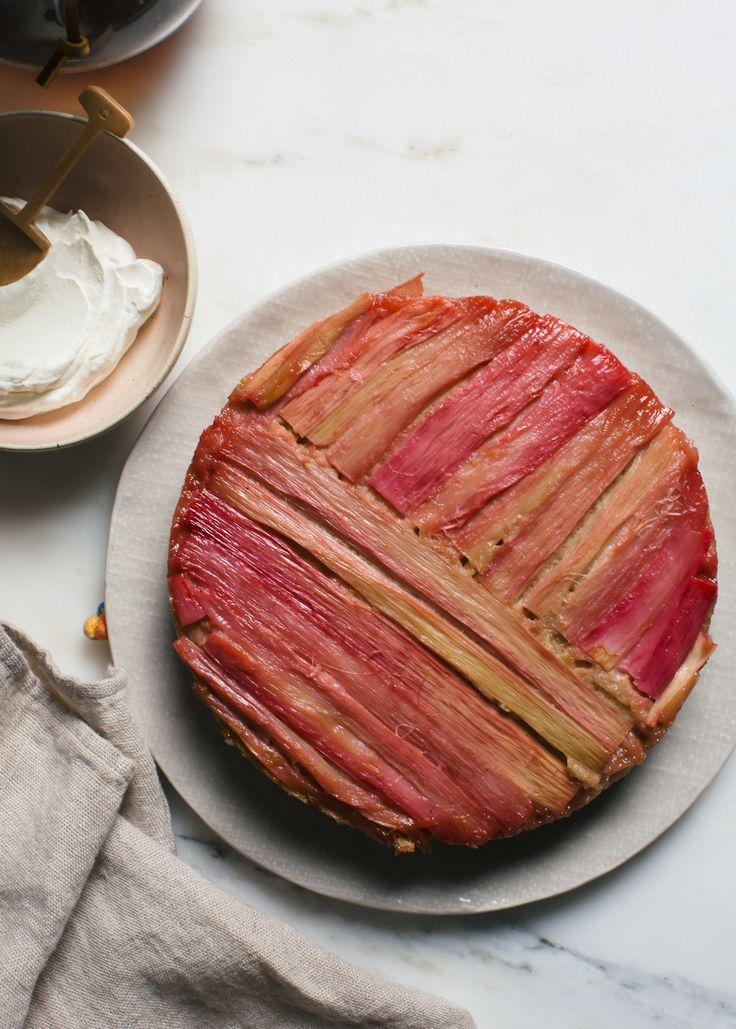 Rye Rhubarb Upside Down Cake