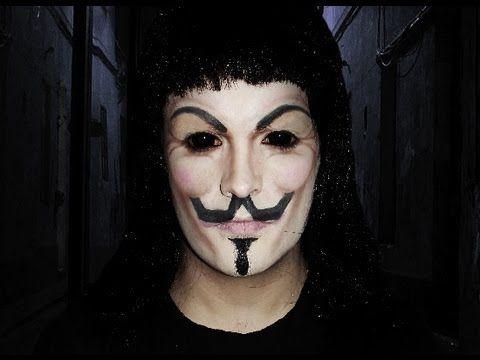 V For Vendetta - Makeup Tutorial! - YouTube