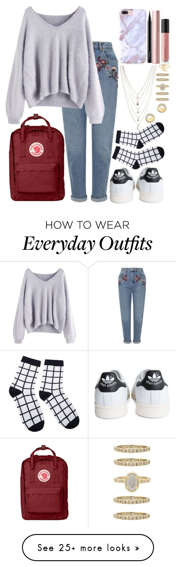 """""""Everyday outfit"""" by kleevort on Polyvore featuring Miss Selfridge, Fjällräven, MAC Cosmetics, Bare Escentuals, adidas, Ettika, Bloomingdale's and Kendra Scott"""