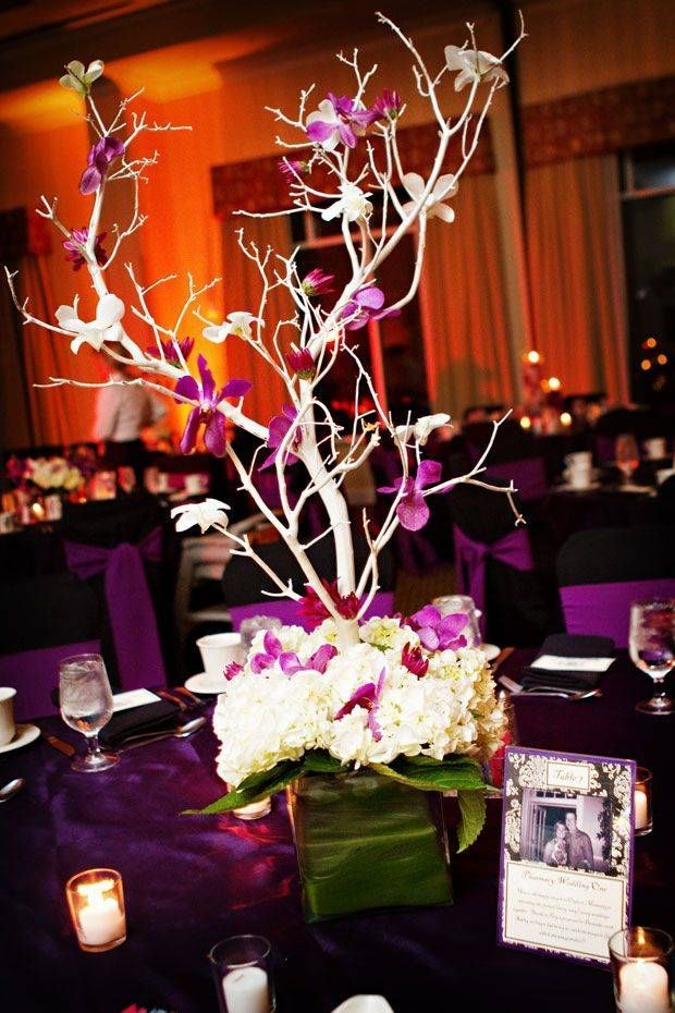 Pretty pink and white orchid centerpiece baptism