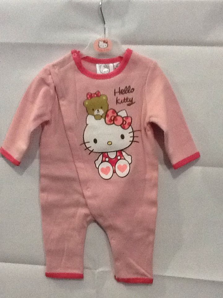 Tuta intera neonata felpata Hello Kitty rosa 3 mesi idea regalo
