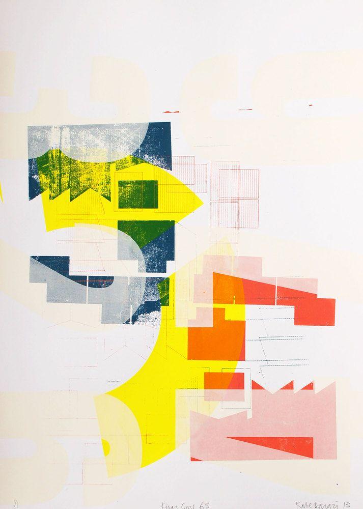 Kings Cross 63 - silkscreen print by @Kate Mazur Banazi