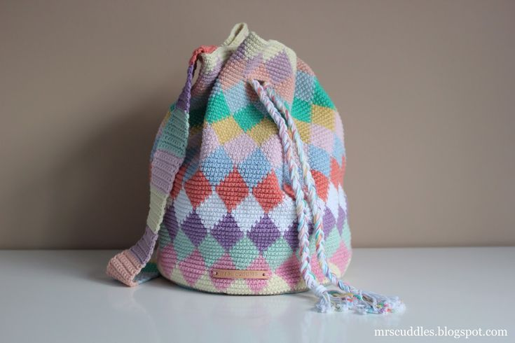 Mrs. Cuddles: Diamond tapestry bag