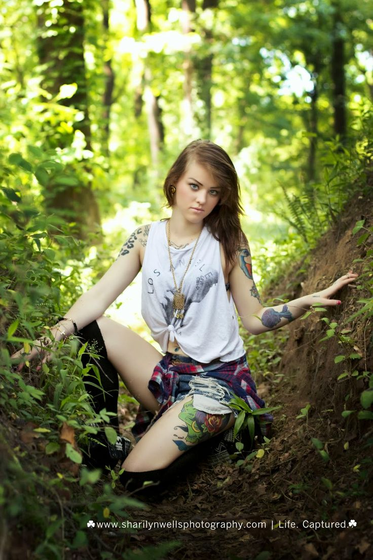 Tattoo Model Nc Model Forest Photoshooting In