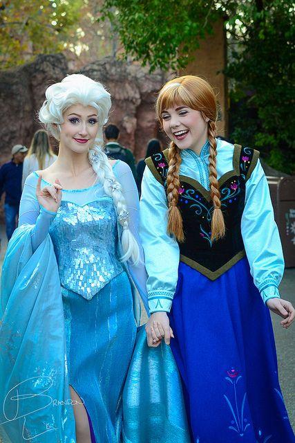 Elsa and Anna!!! | Frozen | Pinterest | Disney, Elsa hair ...