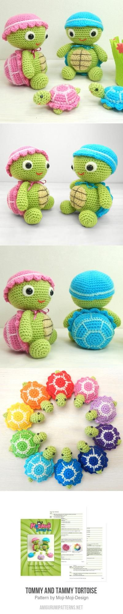 Tommy And Tammy Tortoise Amigurumi Pattern
