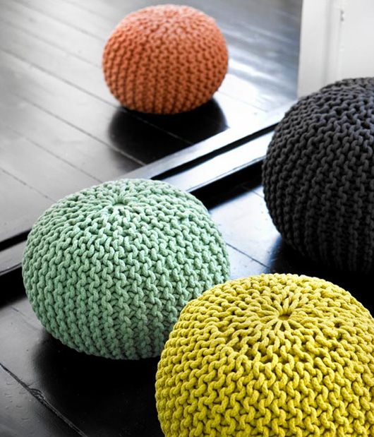 Crochet poufs...I'll take them all!