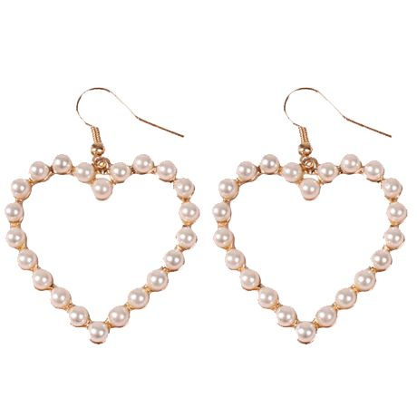 itGirl Shop PEARL HEARTS MINIMAL EARRINGS Aesthetic Apparel, Tumblr Clothes, Sof…