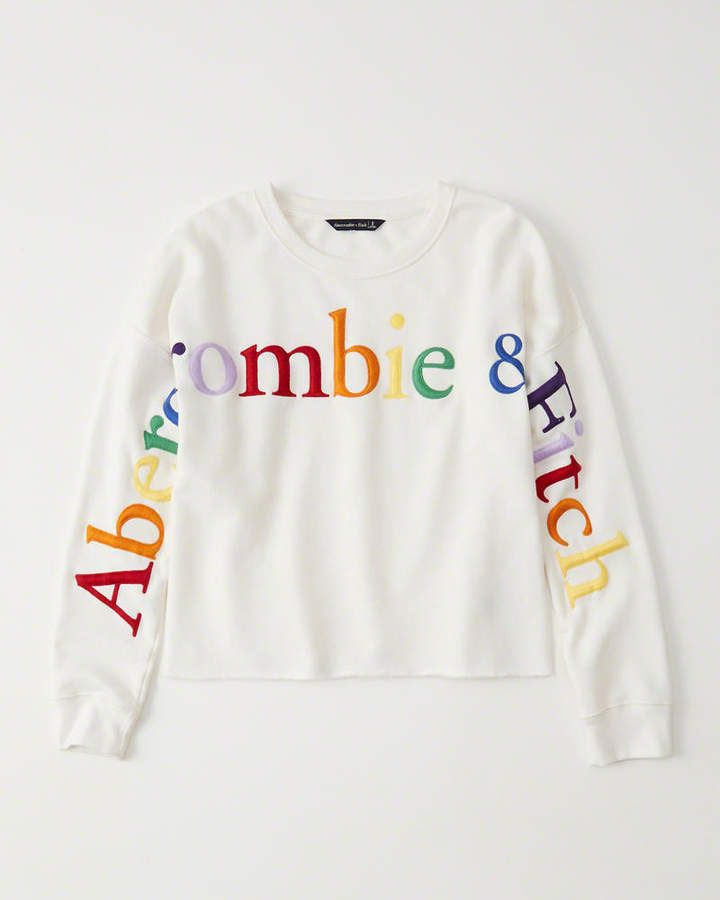 8c55d689f8e6c Rainbow Logo Crew Sweatshirt #sweatshirt#rainbow#Cool | travel tips ...
