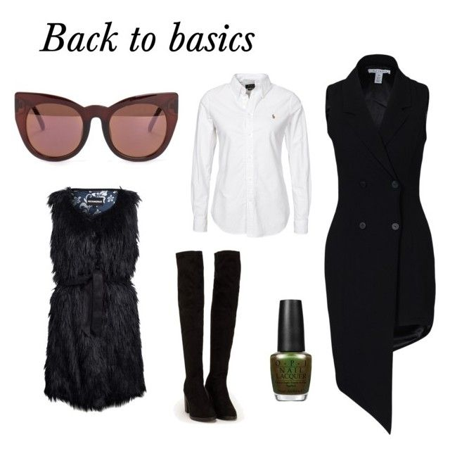 Back to basics by kmk92 on Polyvore featuring NLY Trend, New Look, Quay and OPI