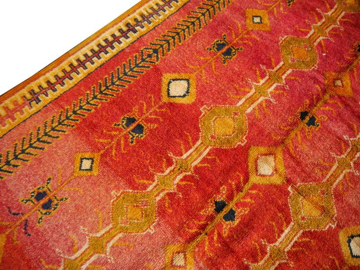 Fantastic Vintage North African Tribal Berber Carpet
