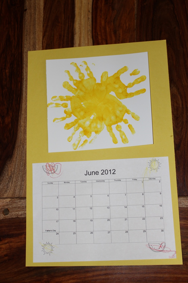 Calendar Craft For Kindergarten : June calendar preschool sun craft bear hugs
