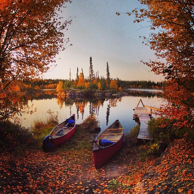Canoeing is just one way to get in touch with nature during a stay at Forest House Wilderness Lodge in northern Saskatchewan.