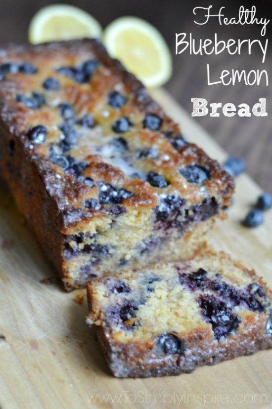 The Blueberry Lemon Bread is not only super moist and scrumptious, it's healthy! It's a perfect way to satisfy your sweet tooth.