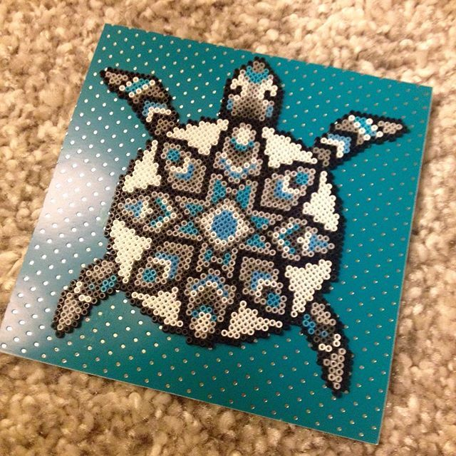 Turtle perler beads by  theycallme_pg