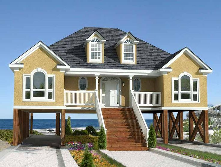 plan 60053rc low country or beach home plan - House Plans Drive Through Carport