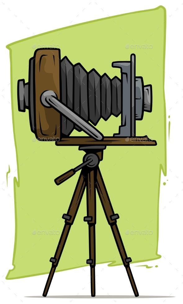 Cartoon Retro Vintage Camera On Tripod Vector Icon Vintage Cameras Retro Vintage Vintage Camera