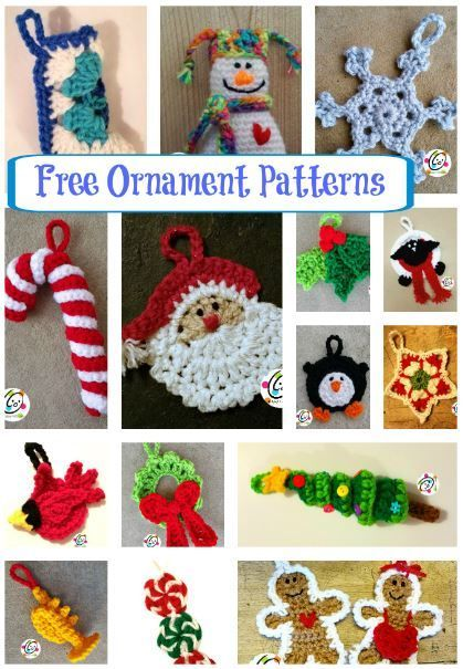 Free crochet ornament patterns.  For Henry's 3 foot Christmas tree next year.
