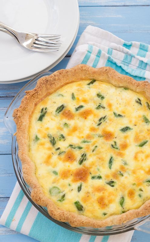Kristine S Kitchen Asparagus And Goat Cheese Quiche