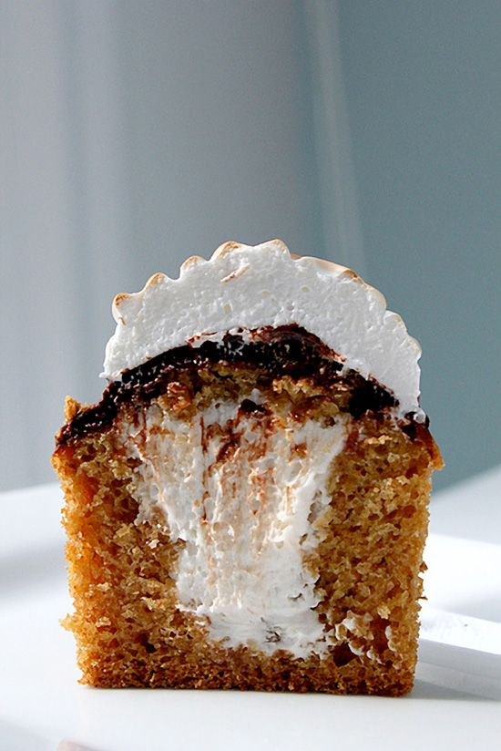 S'more Cupcakes. I make s'mores cupcakes already, but I love this idea!