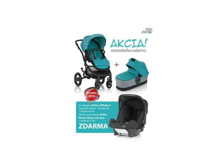 Britax kombinovaný kočík Affinity 2 2016 AKCIA + autosedačka ZDARMA 674€