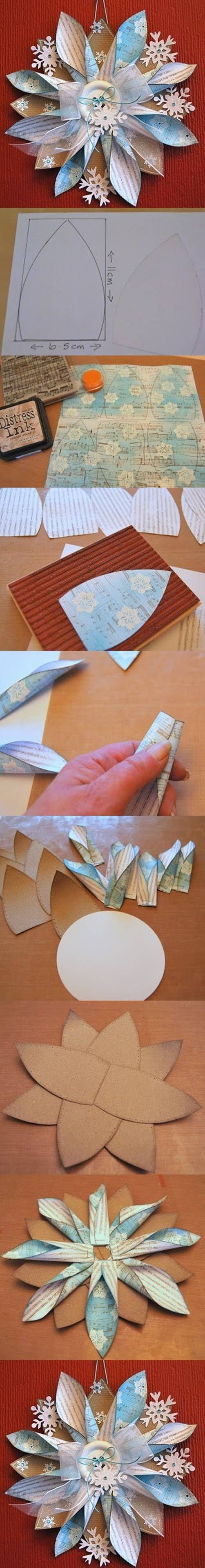 DIY Paper Ornaments tutorial origami christmas crafts