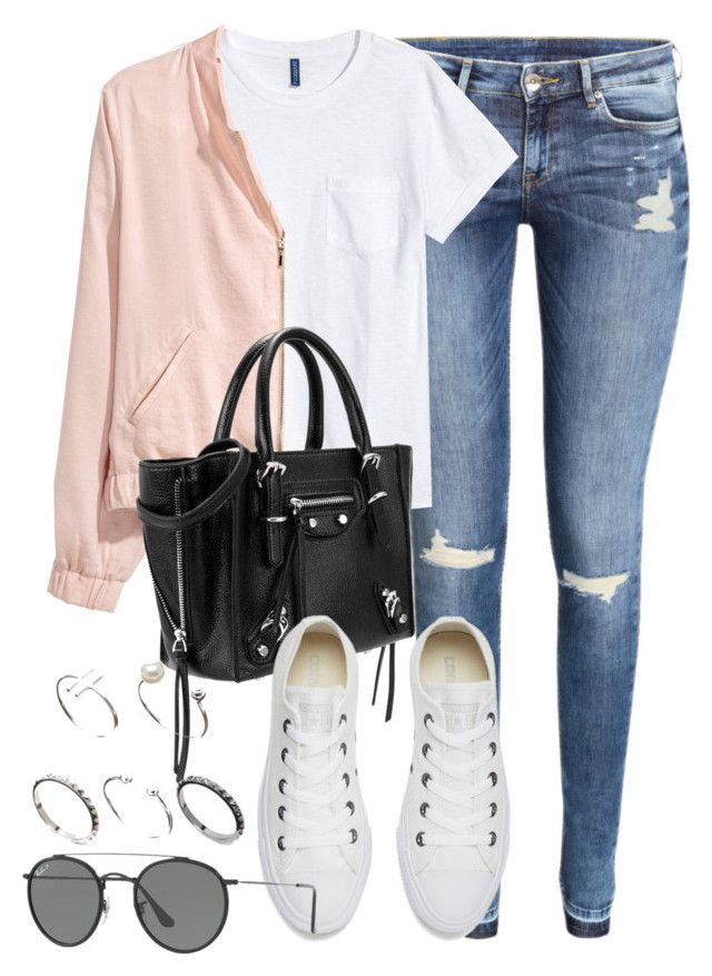 """Sin título #12408"" by vany-alvarado ❤ liked on Polyvore featuring H&M, Converse, Ray-Ban and ASOS"