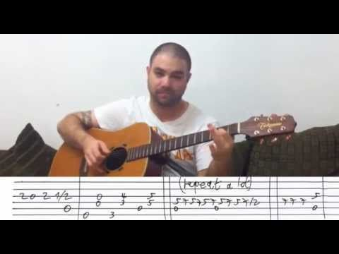 Fingerstyle Tutorial: Ain't No Sunshine (When She's Gone) - w/ TAB (Guitar Lesson) - YouTube