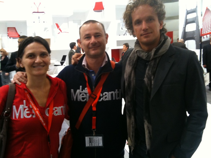 Sayl chair with Yves Béhar: visiting Herman Hiller booth at Orgatec exhibition in Koln