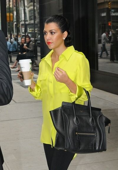 neon silk shirt, and the bag...