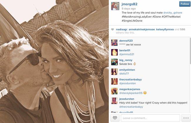 James Morgan announces his love for Vicky Pattison [Instagram]